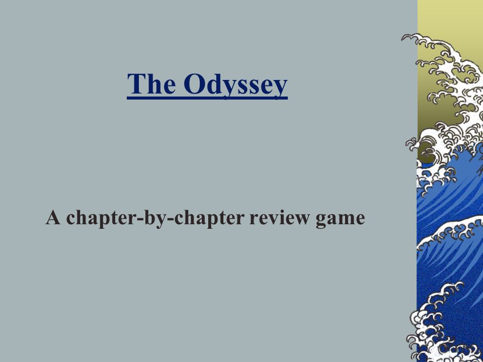 A chapter-by-chapter review game