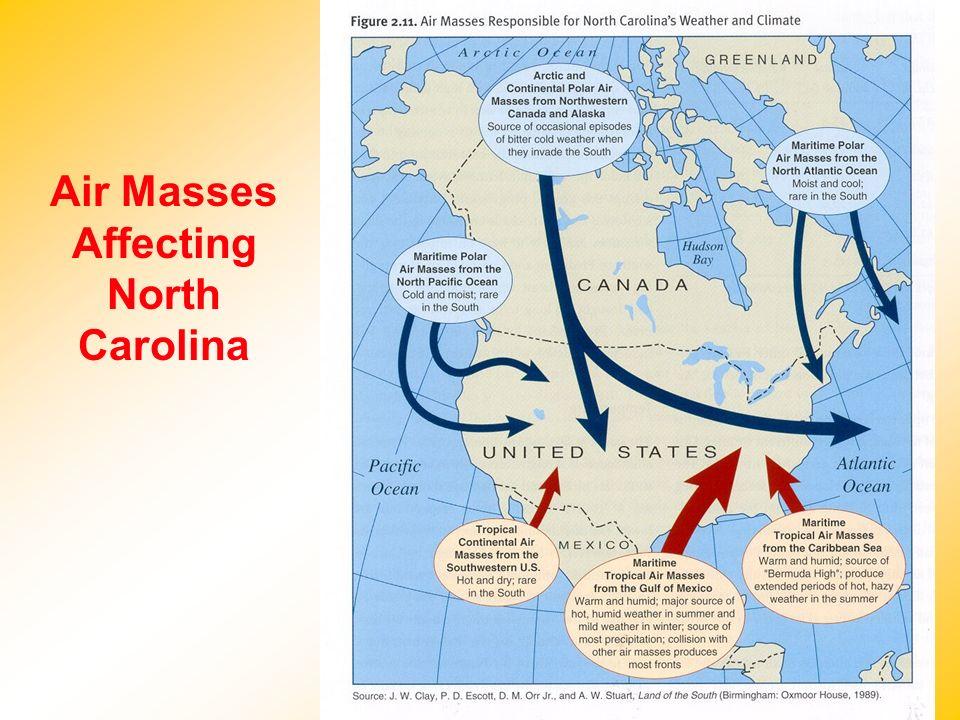 Air Masses Affecting North Carolina