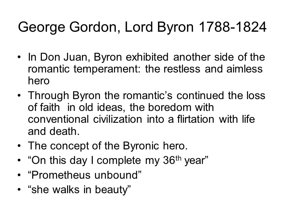 summary of lord byron s prometheus George gordon lord byron (1788-1824)  lord byron is a romantic poet  the  theme of the poem is very clear, the punishment of prometheus for stealing the.