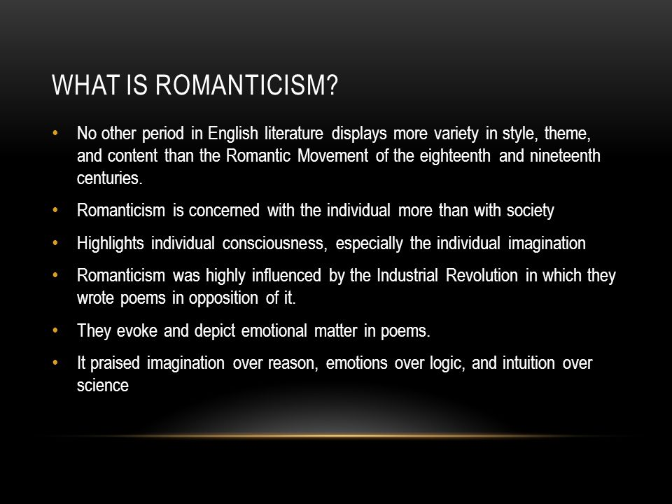 Romanticism and emotion over reason english literature essay