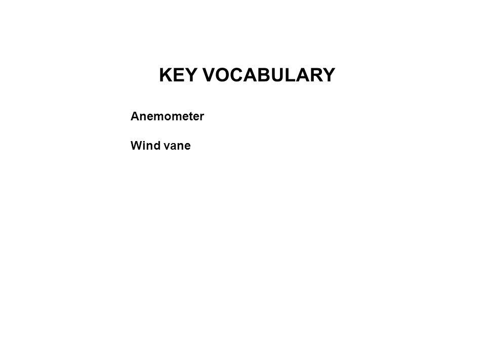 KEY VOCABULARY Anemometer Wind vane