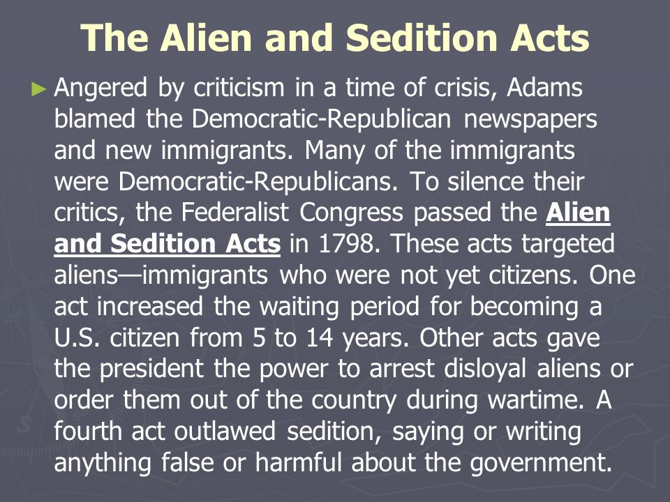 the alien and sedition acts of 1798 I am currently reading wendell bird's press and speech under assault: early supreme court justices, the sedition act of 1798, and the campaign against dissent (oxford, 2016) which is an in depth look at english common law traditions and a legal history of freedom of speech and the press through the 1790s.