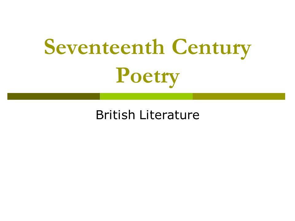 Seventeenth Century Poetry