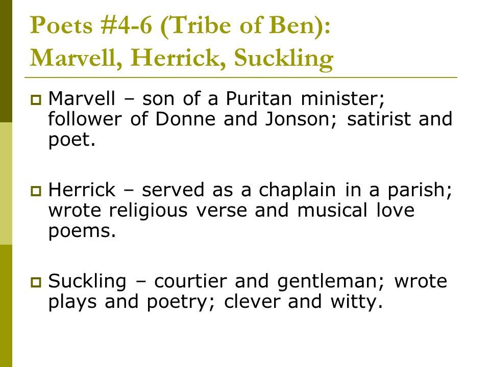 Poets #4-6 (Tribe of Ben): Marvell, Herrick, Suckling
