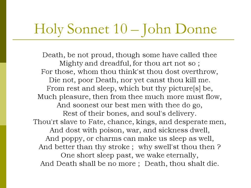 Holy Sonnet 10 – John Donne