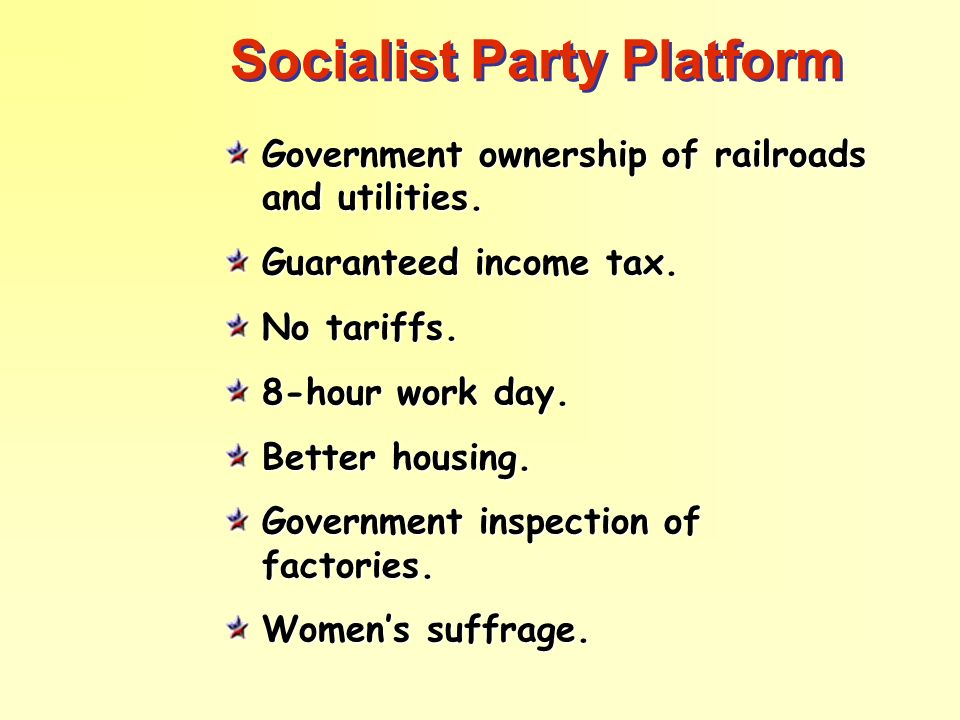 Socialist Party Platform