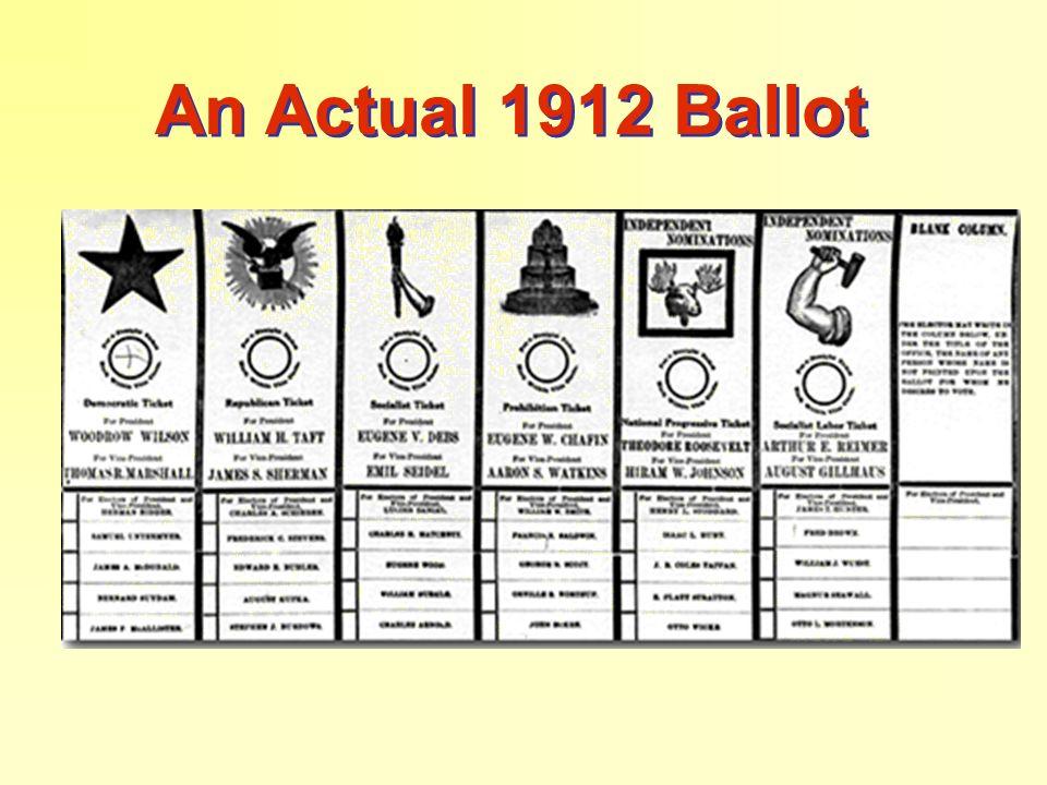 An Actual 1912 Ballot
