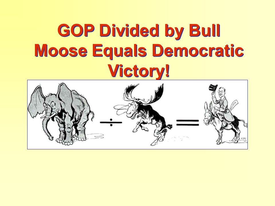 GOP Divided by Bull Moose Equals Democratic Victory!