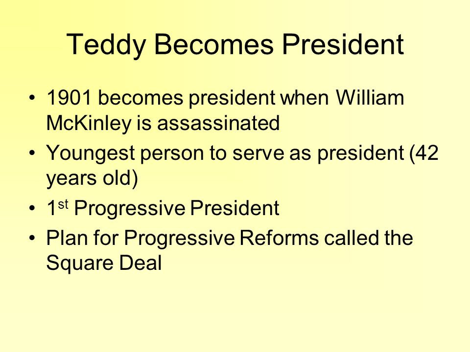 Teddy Becomes President