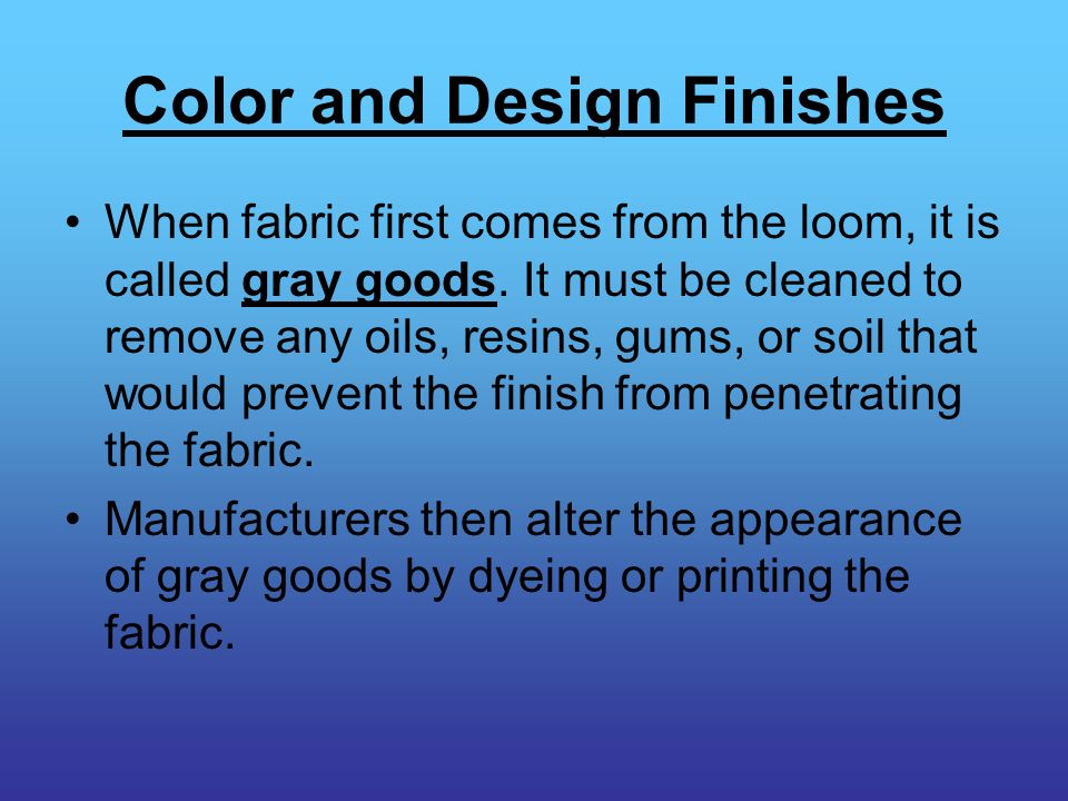 Color and Design Finishes