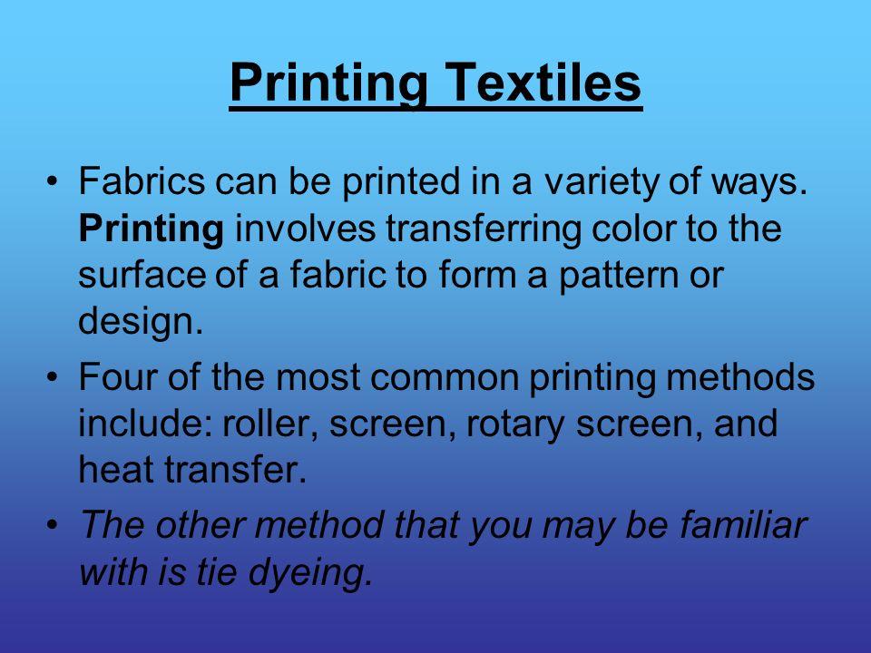 Printing Textiles