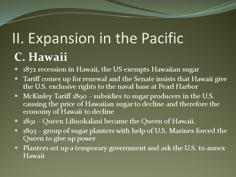 II. Expansion in the Pacific
