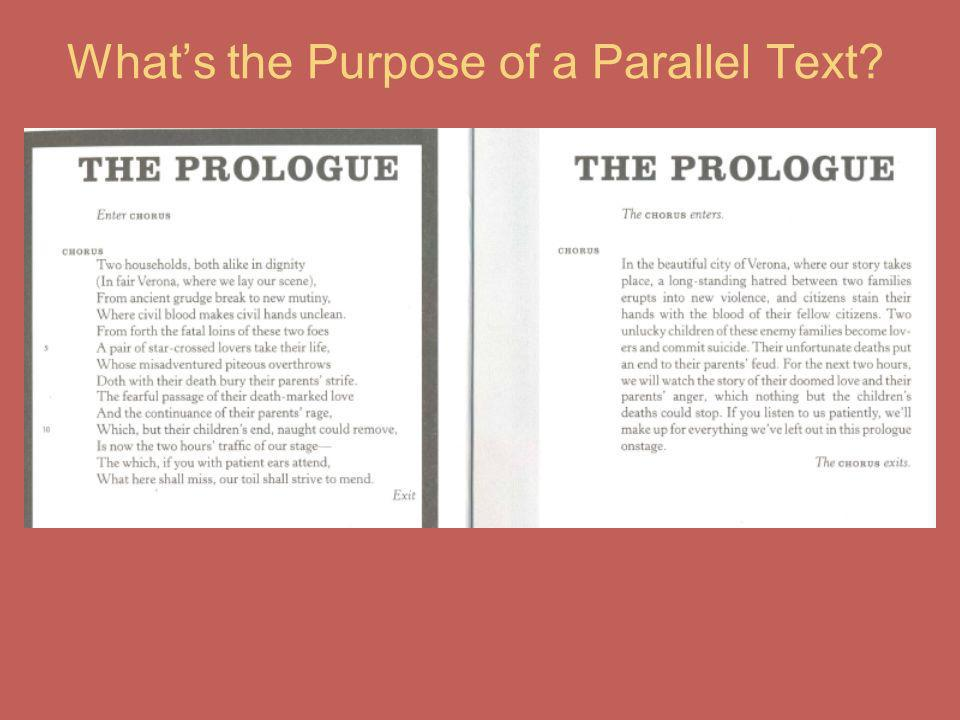 What's the Purpose of a Parallel Text