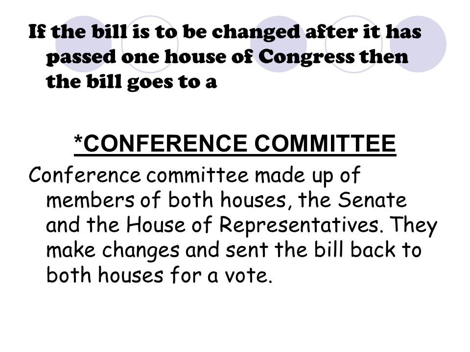 *CONFERENCE COMMITTEE
