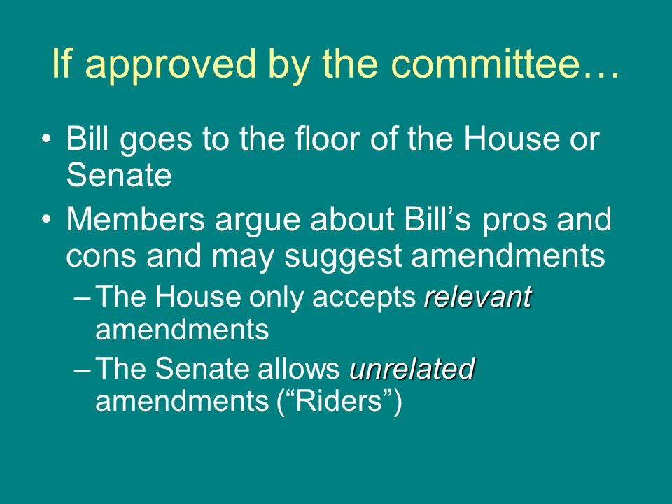 If approved by the committee…