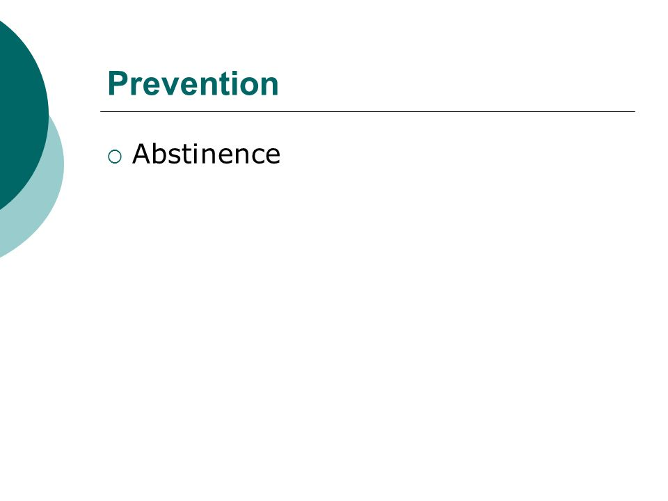 Prevention Abstinence
