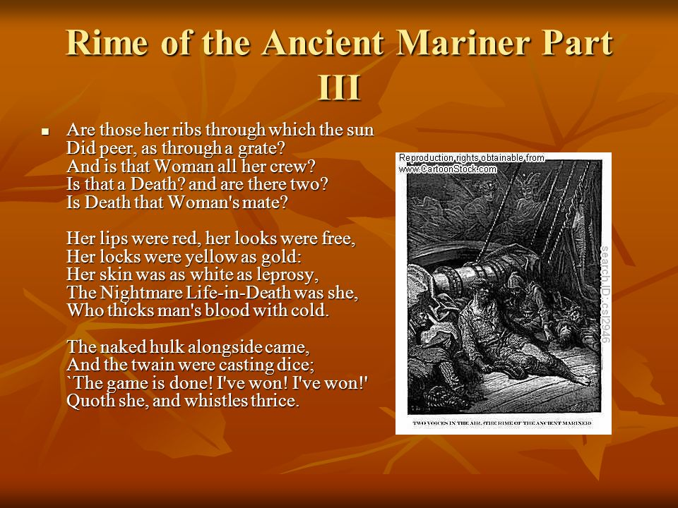 "the rime of the ancient mariner essay ""the rime of the ancient mariner"" by samuel taylor coleridge the poem, ""the rime of the ancient mariner,"" by samuel taylor coleridge is a truly imaginative work utilizing the familiar yet timeless themes of good fortune, the power of mother nature, and adventurous voyages over the sea."