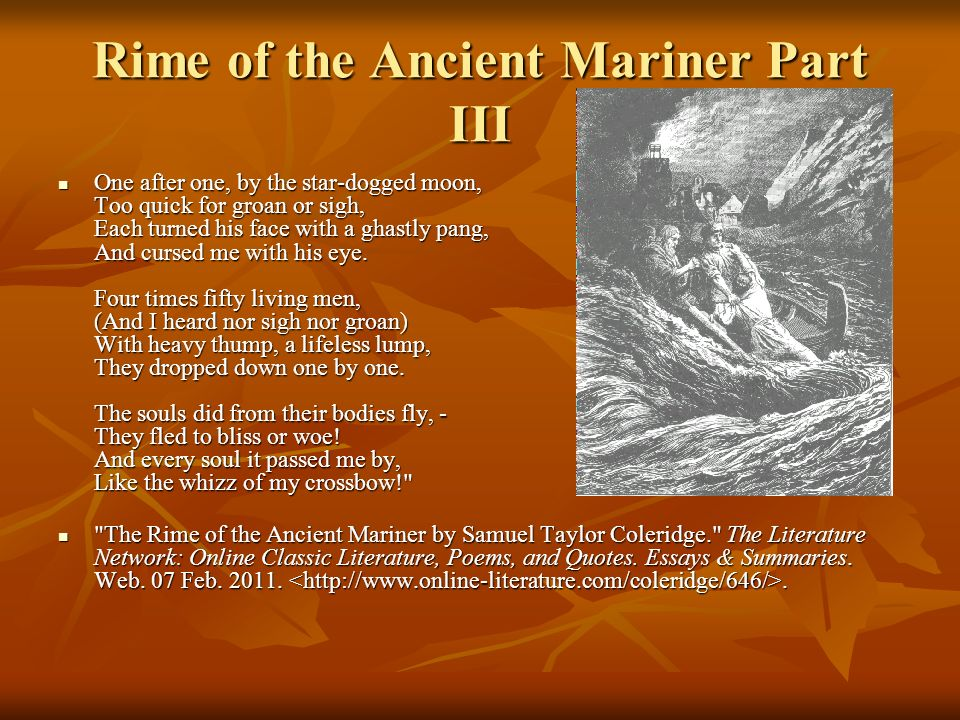 rime of the ancient mariner part iii ppt  rime of the ancient mariner part iii