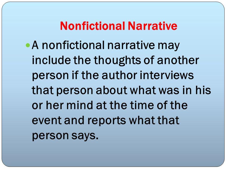 Nonfictional Narrative