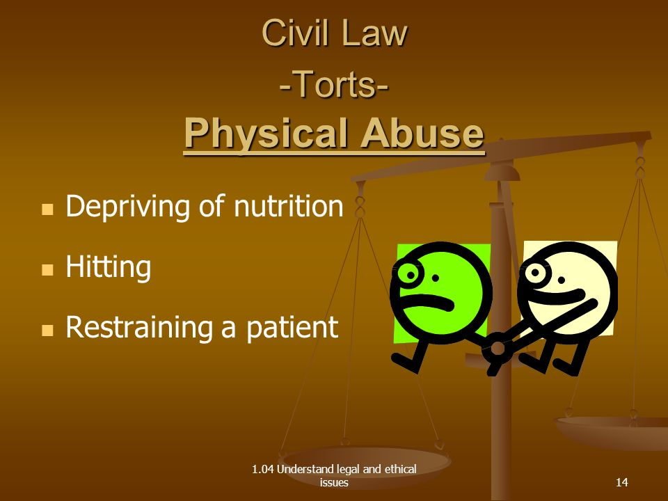 Civil Law -Torts- Physical Abuse