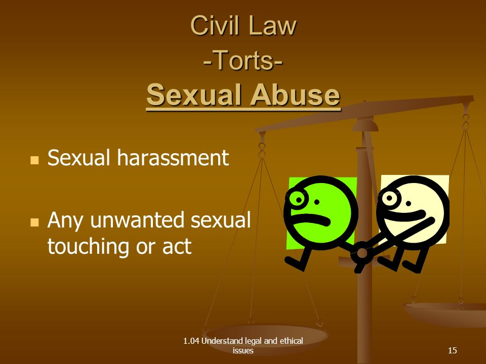 Civil Law -Torts- Sexual Abuse