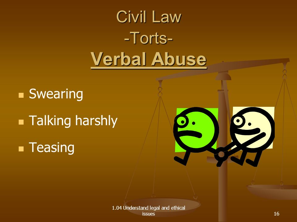 Civil Law -Torts- Verbal Abuse