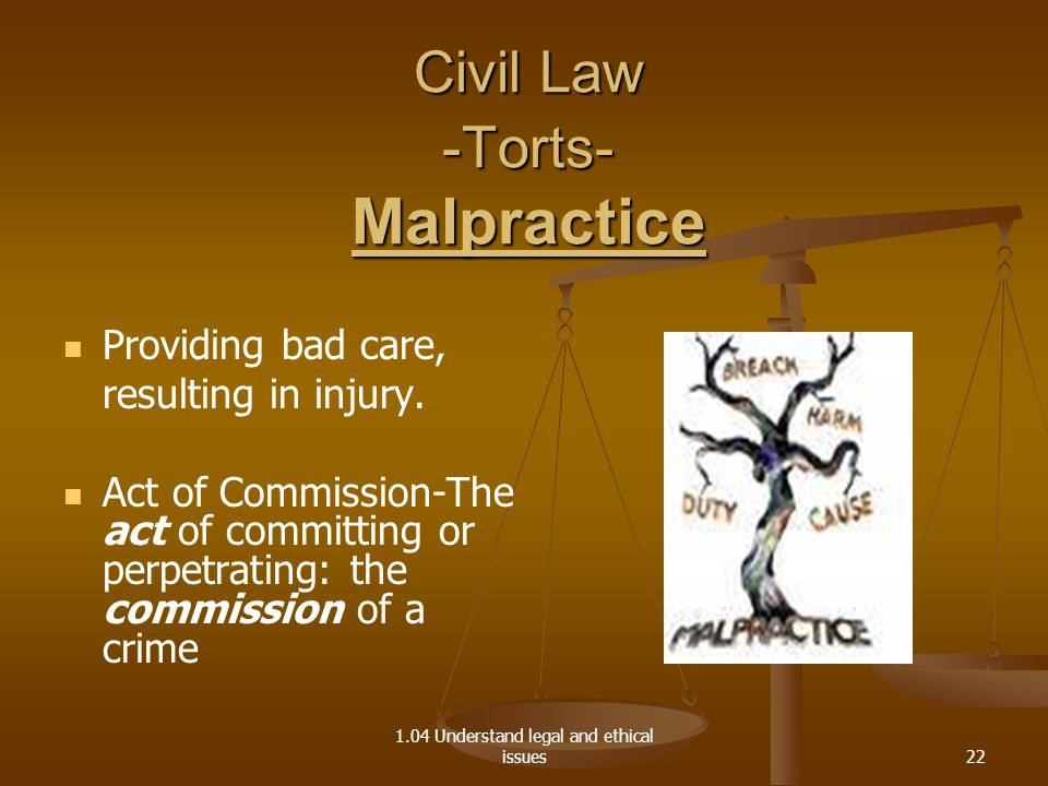 Civil Law -Torts- Malpractice