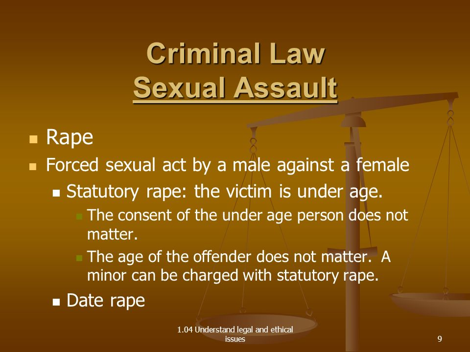 Criminal Law Sexual Assault