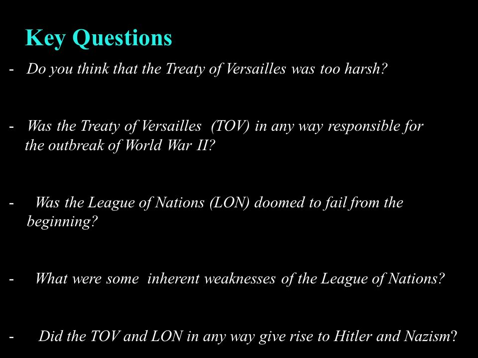 why league nations doomed fail These include the failure of the league of nations, the treaty of versailles,  hitler's actions and so on some of them are more important then others and are .