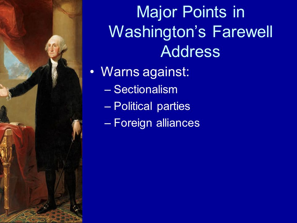 Major Points in Washington's Farewell Address