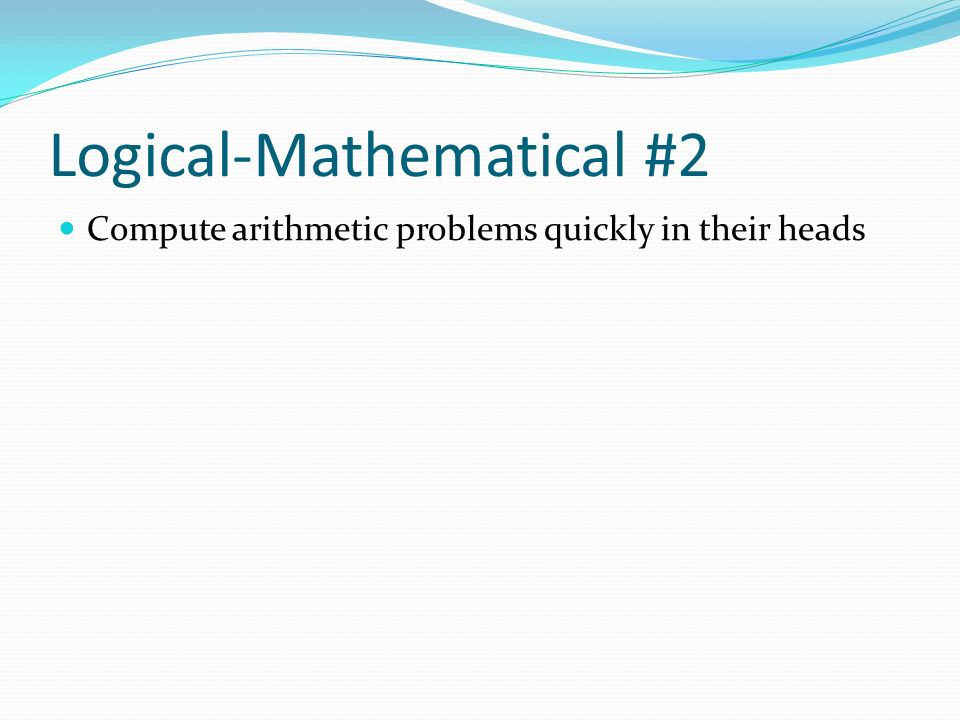 Logical-Mathematical #2