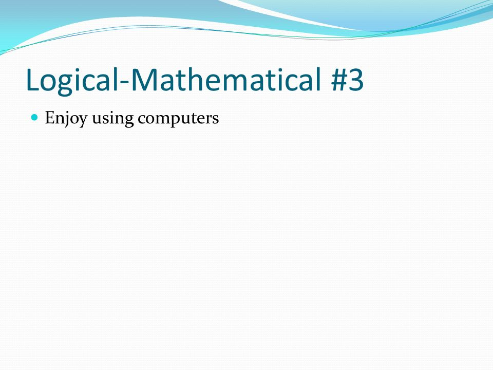 Logical-Mathematical #3