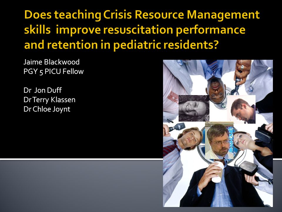 Crisis Resource Management : Presenting your research ppt video online download