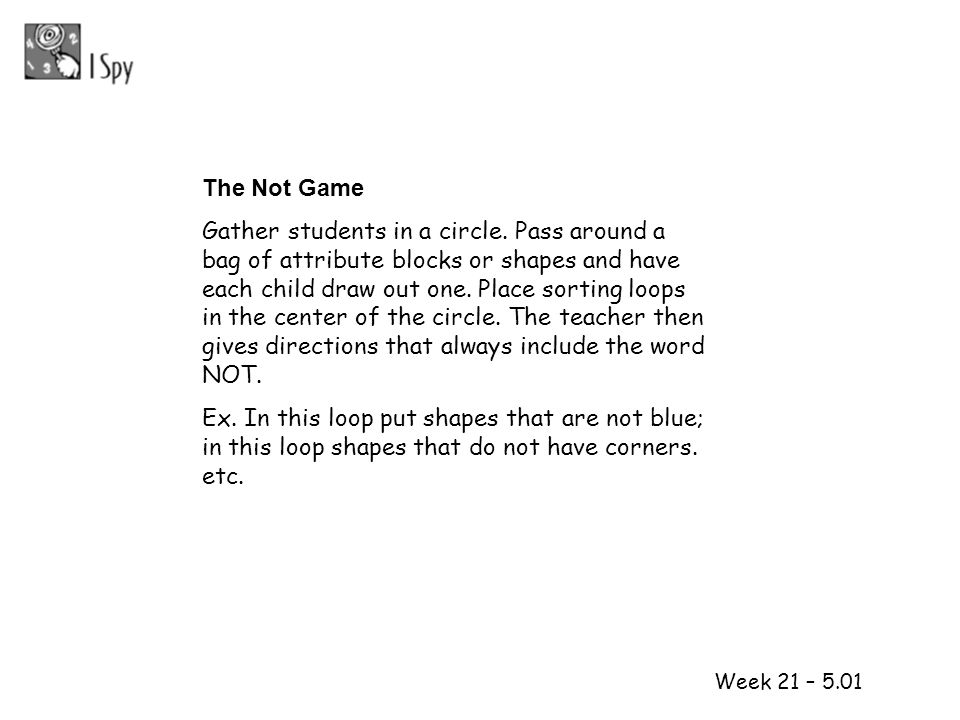 The Not Game