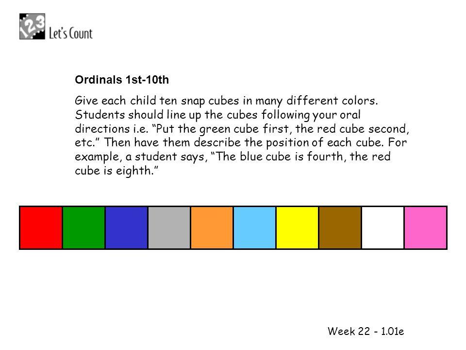 Ordinals 1st-10th