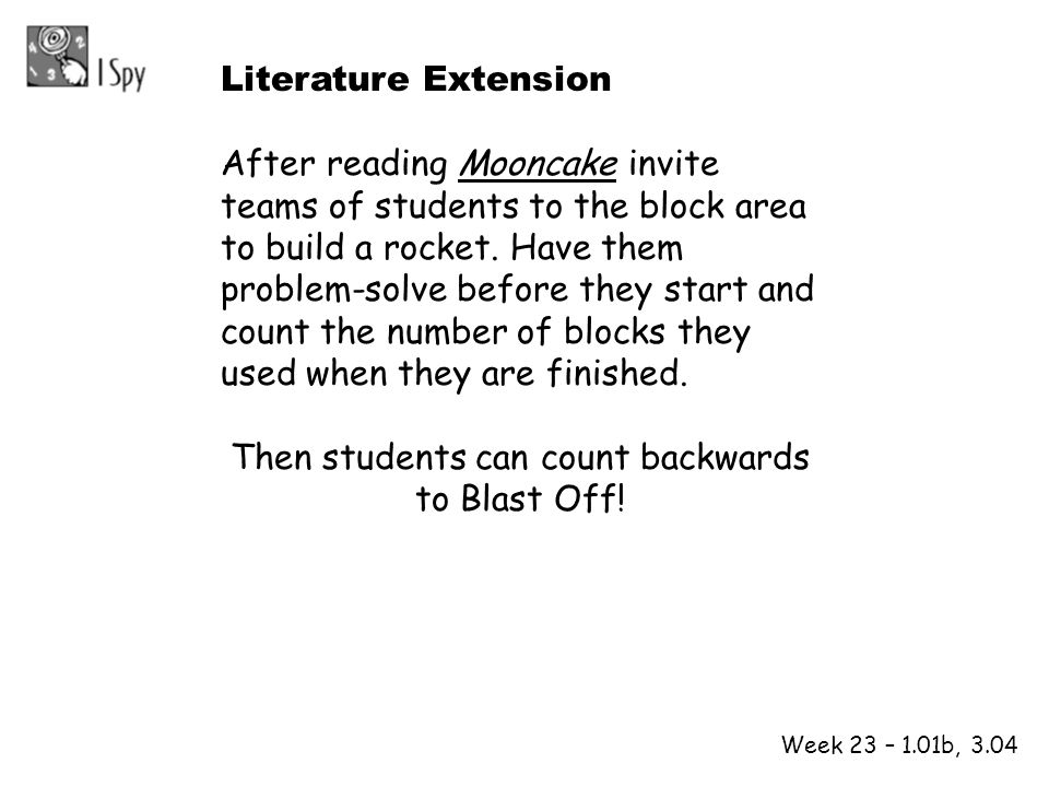 Then students can count backwards to Blast Off!