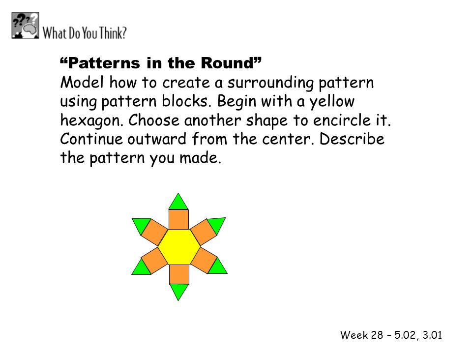 Patterns in the Round Model how to create a surrounding pattern