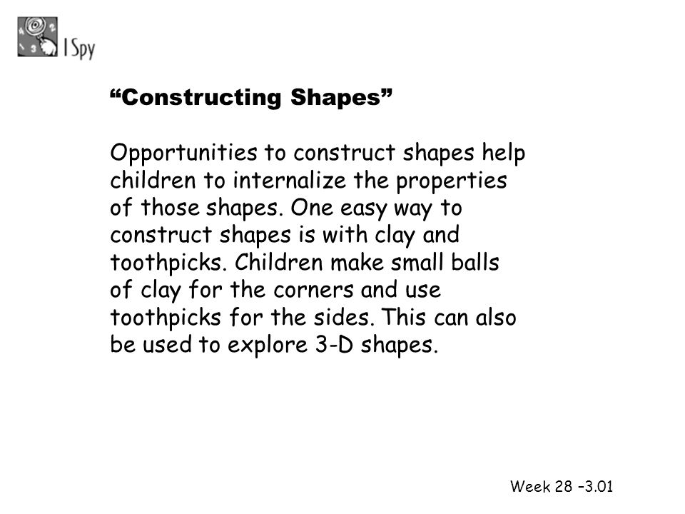Constructing Shapes