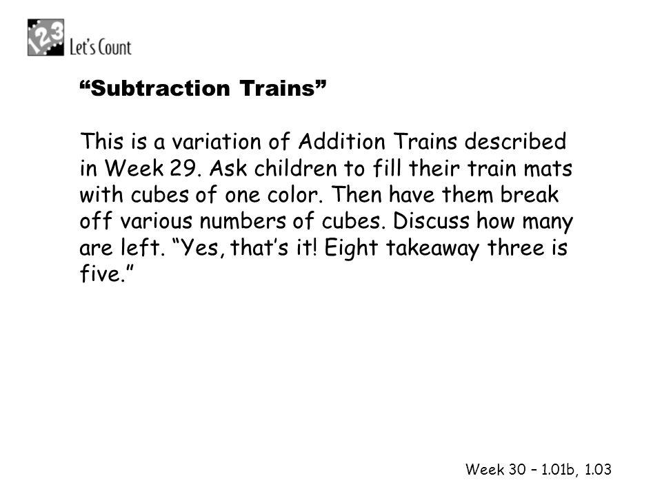 Subtraction Trains