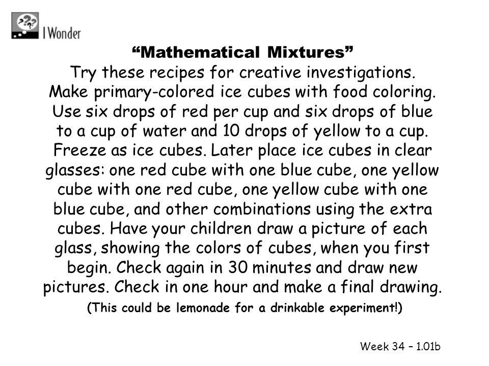 Mathematical Mixtures