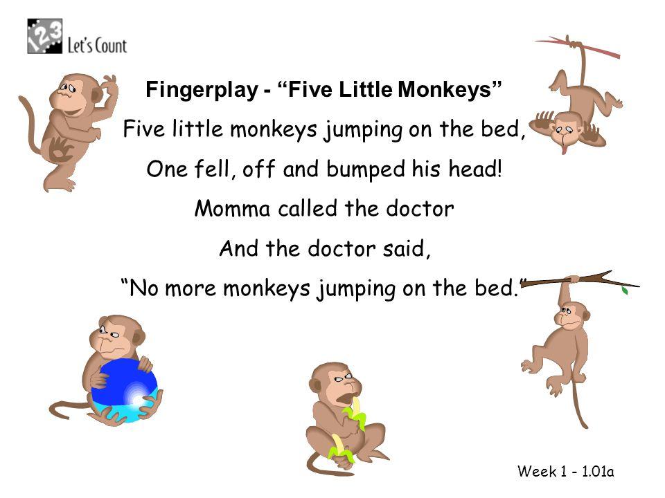 Fingerplay - Five Little Monkeys