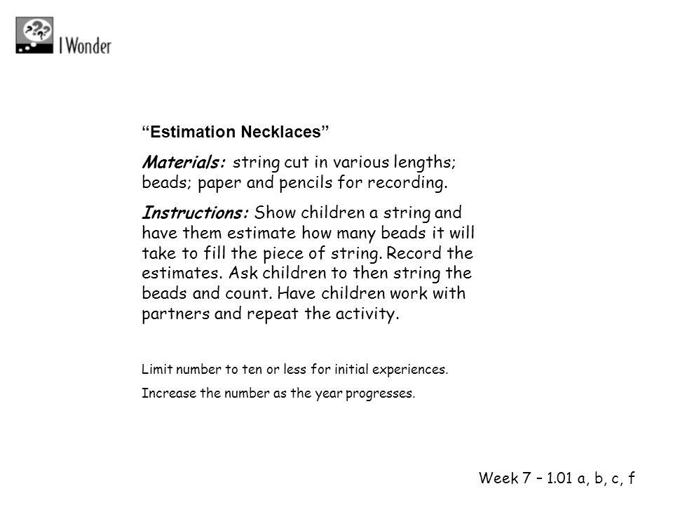 1 2 Estimation Necklaces