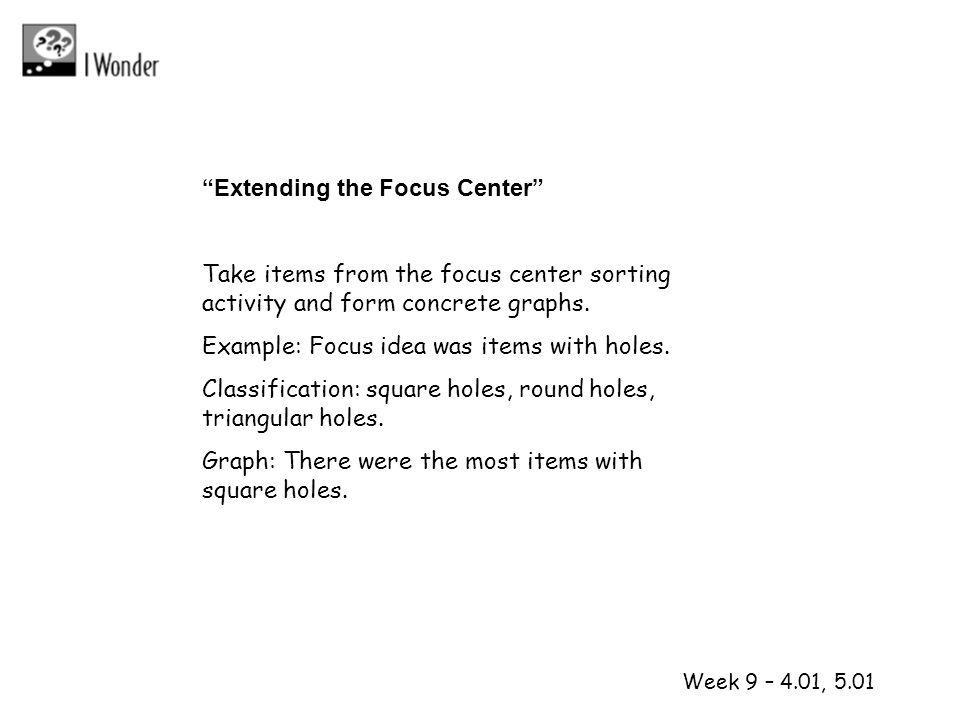 1 2 Extending the Focus Center