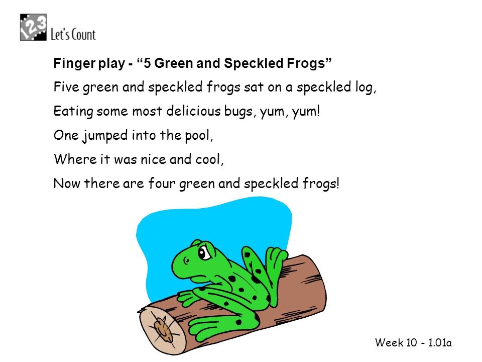 1 2 Finger play - 5 Green and Speckled Frogs