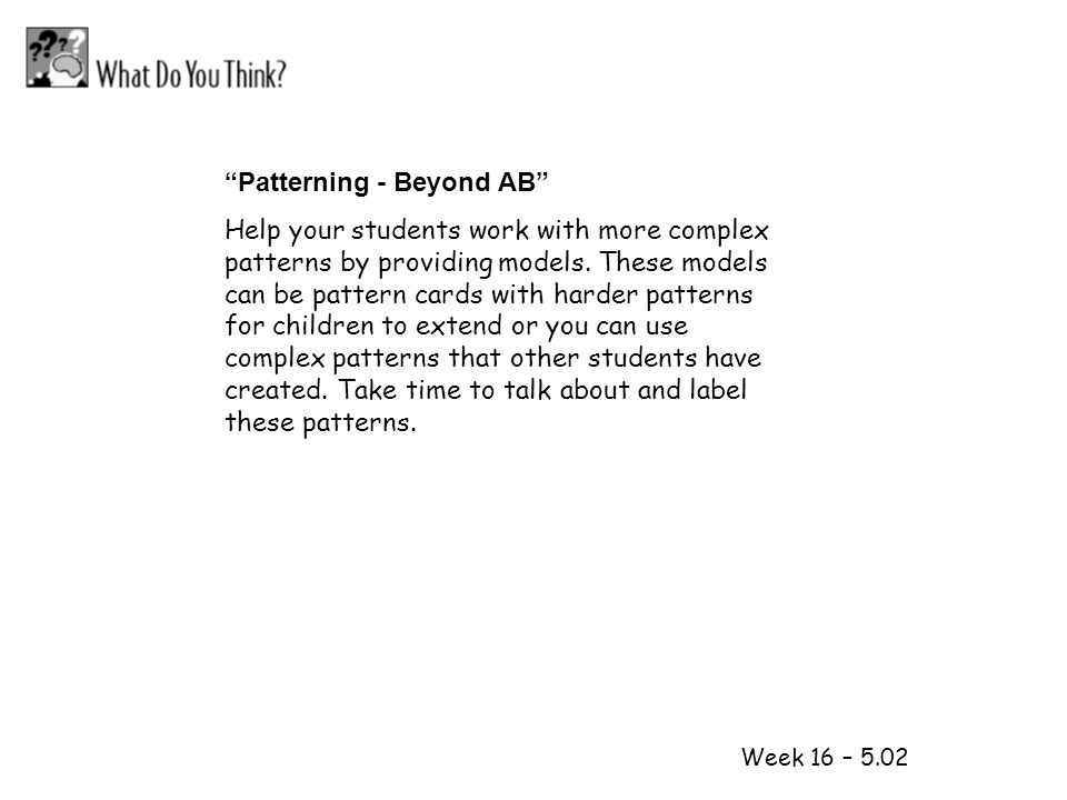 1 2 Patterning - Beyond AB