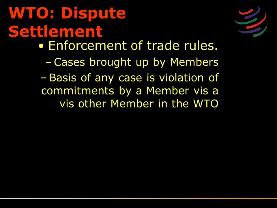 Dispute settlement system of the world trade organization