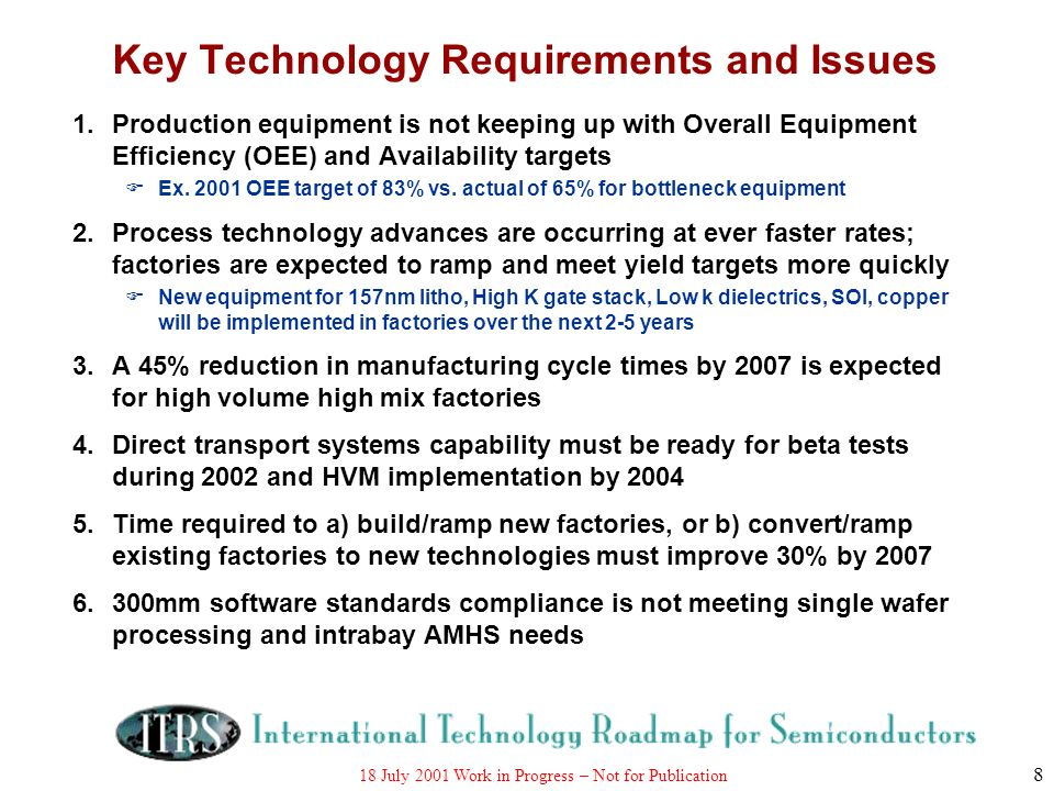 Key Technology Requirements and Issues