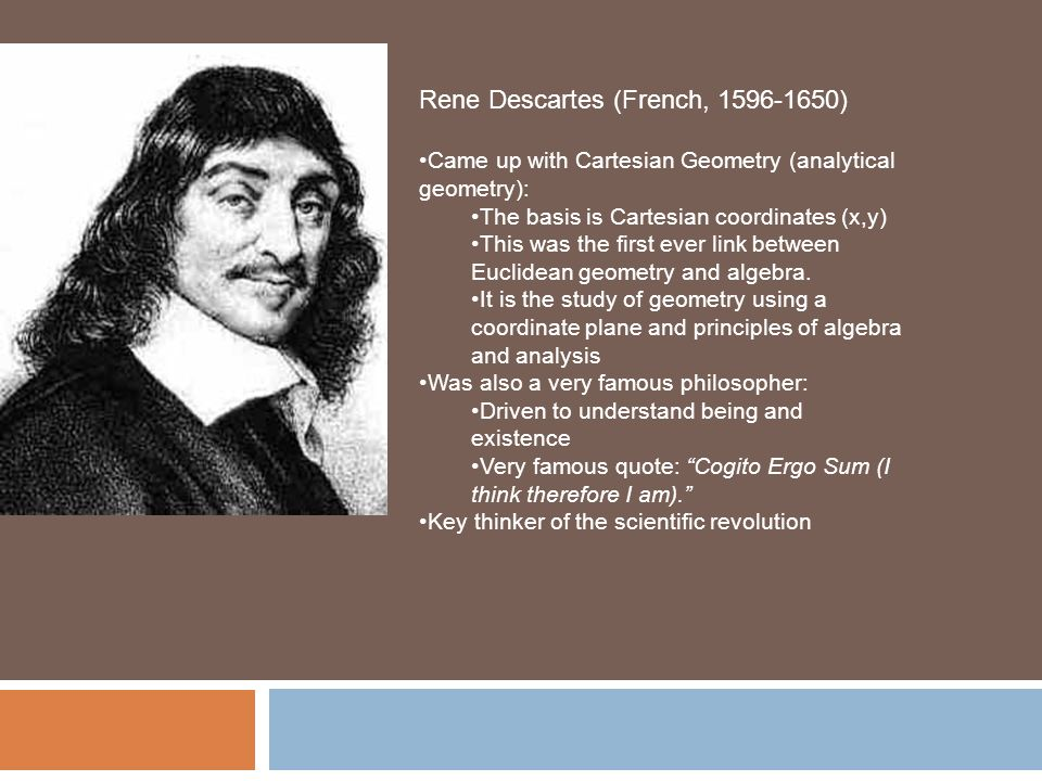an analysis of rene descartes in the existence of a heavenly being Morpheus tells neo that human existence is merely a facade in reality, humans  are being 'farmed' as a source of energy by a race of sentient, malevolent  machines  century french philosopher and mathematician rené descartes   descartes questions his own knowledge and interpretation of reality.