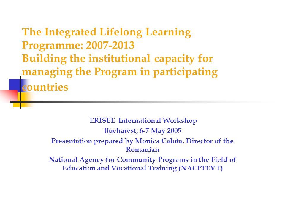 Presentation prepared by Monica Calota, Director of the Romanian