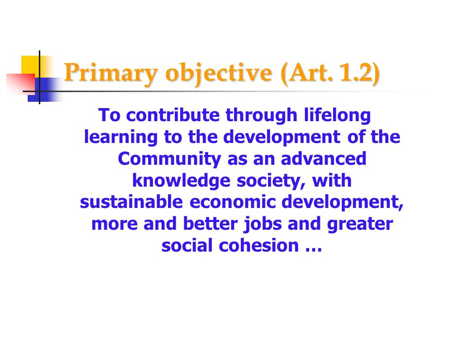 Primary objective (Art. 1.2)